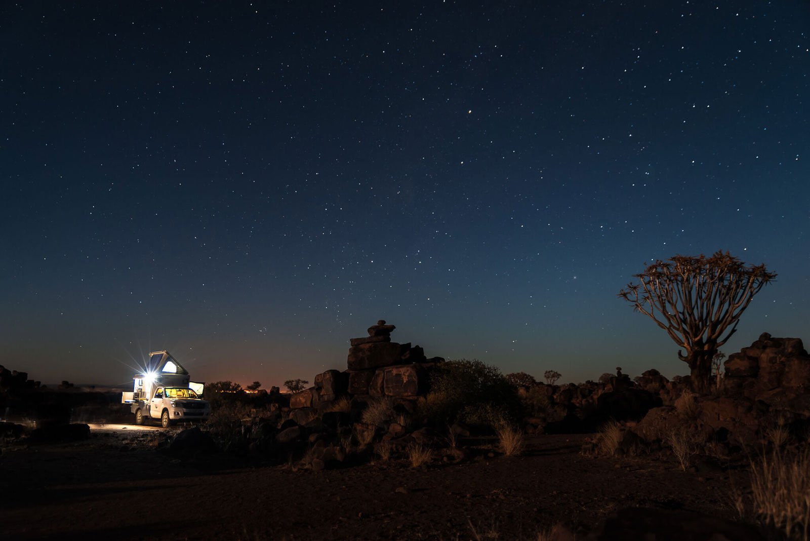 Namibia at night